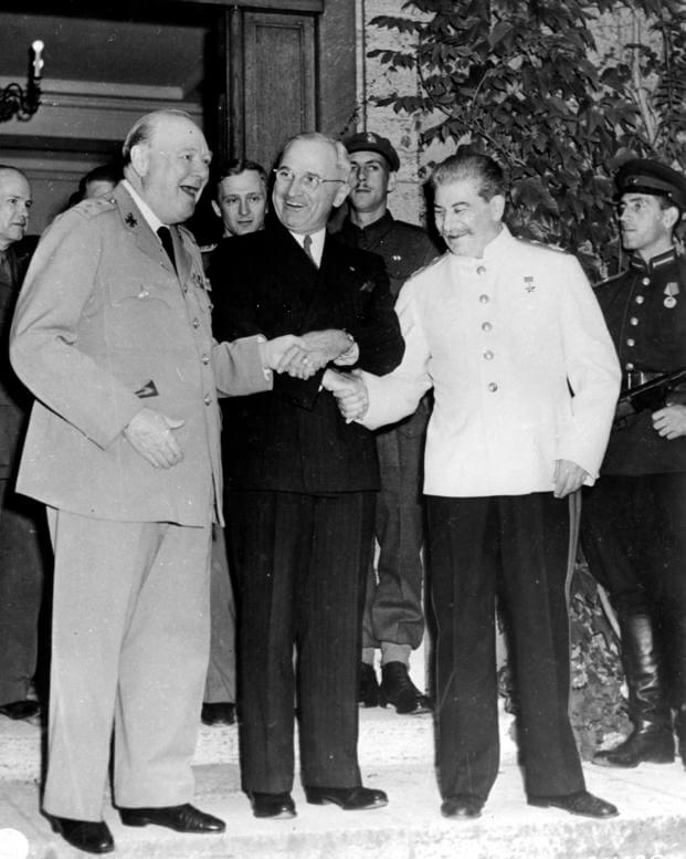 Churchill y Stalin en la Conferencia de Postdam en 1945