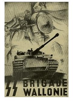 cartel de propaganda de la SS Legión Valona