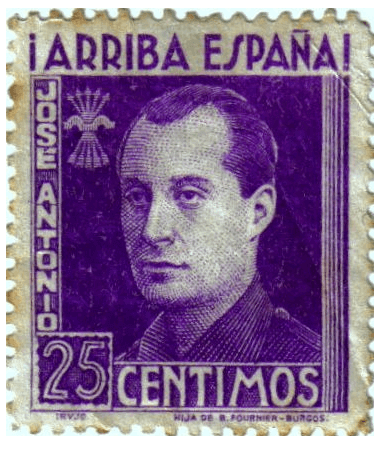 sello de Jose Antonio Primo de Ribera