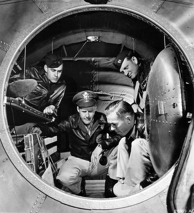 Interior de un Boeing B-29 Superfortress en 1944